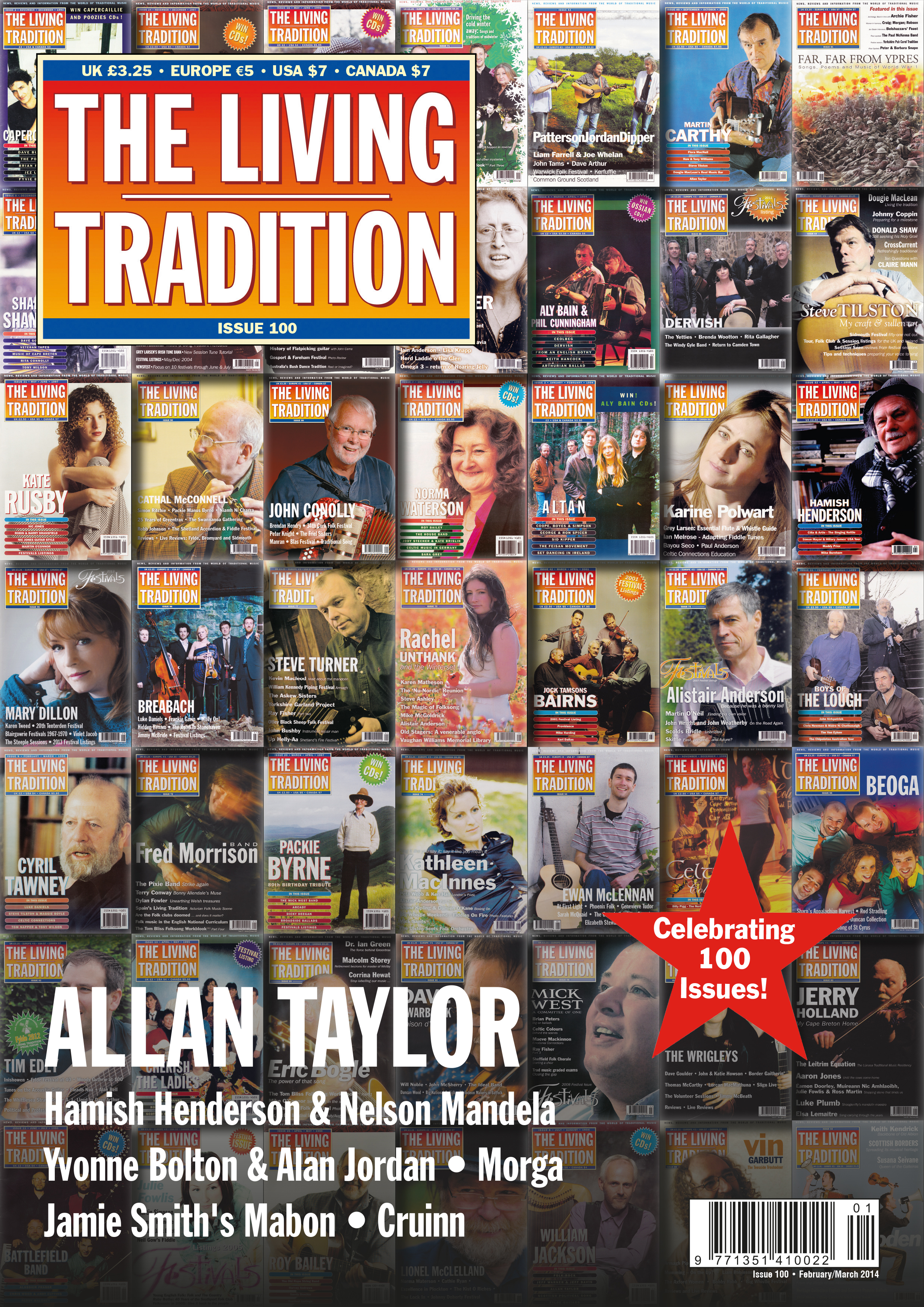 Living Tradition - front cover of Issue 100 (Hi Res for Print)