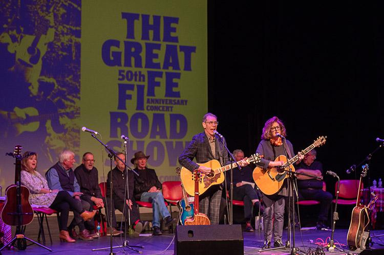 The Great Fife Roadshow - on stage.