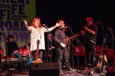 The Great Fife Roadshow - on stage - Cilla and Artie